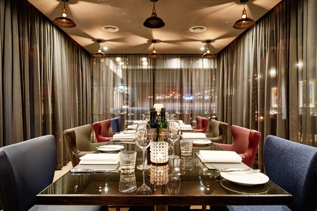 private dining, Malmaison, Brighton Marina