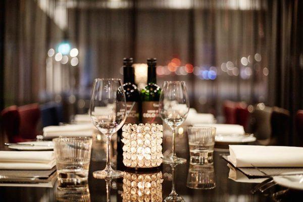 table setting, Malmaison, Brighton Marina
