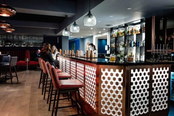 bar area at Malmaison, Brighton Marina
