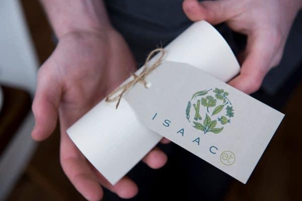 Menu tag at Isaac Restaurants Brighton