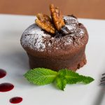Molten chocolate pudding at Edendum