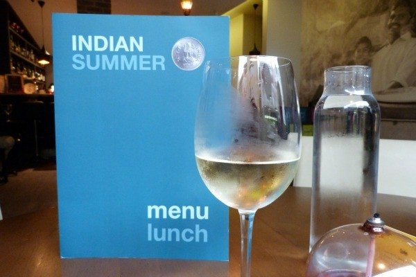 wine at Indian Summer, Brighton