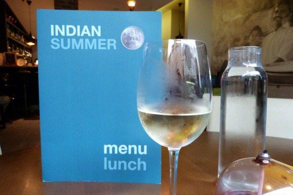 wine at Indian Summer, Brighton