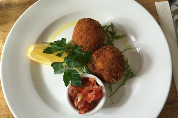 Arancini at the Independent pub, Hanover