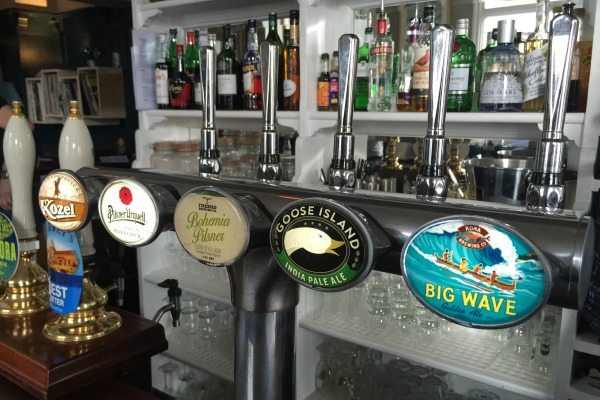 Beers on tap at the Indepedent Pub Brighton