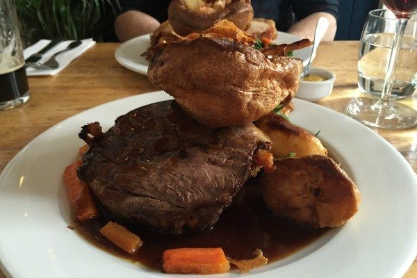 Roast lamb at the Independent Pub, Hanover