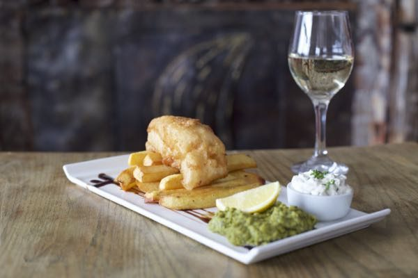 Fish and Chips, The Schooner Inn, Southwick