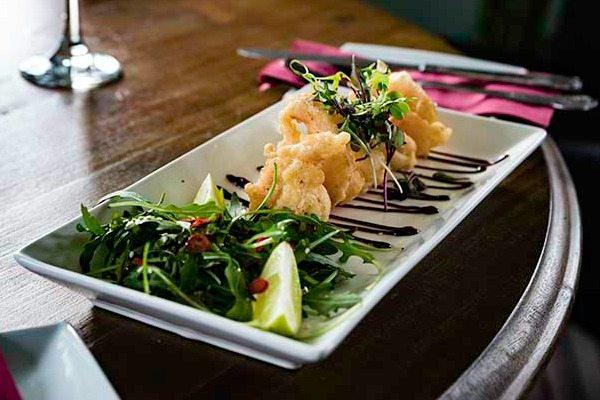 Tempura prawns at the Sportsman pub