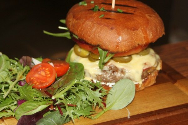 Beef and Jalepeno Burger Moksha