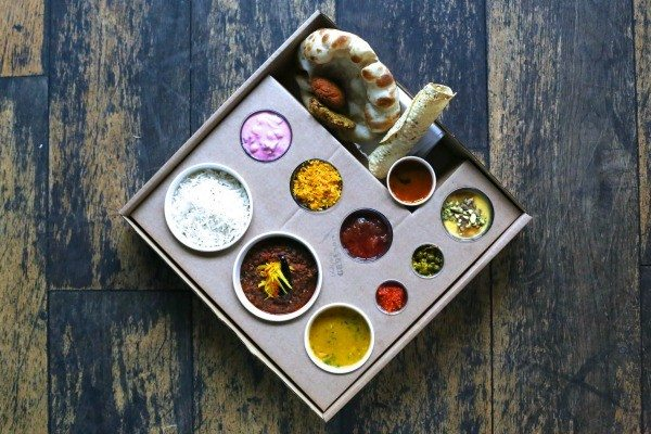 Thali Tray at the Chilli Pickle Brighton