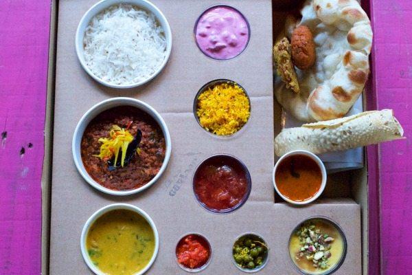 Thali Tray at the Chilli Pickle Brighton