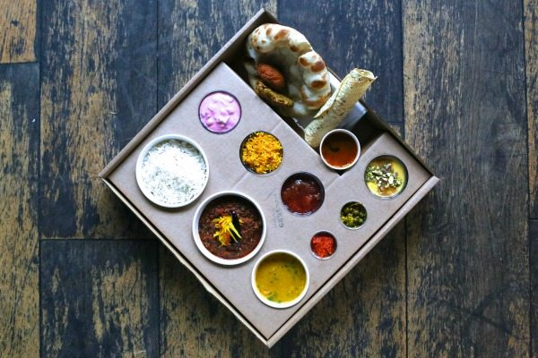 Thali Tray at the Chilli Pickle Brighton - Restaurants in Brighton