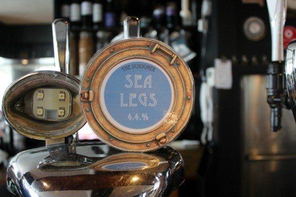 Beer at the Schooner Pub, Brighton