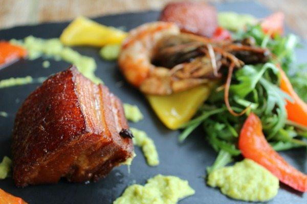 Pork belly at the Schooner Pub, Brighton