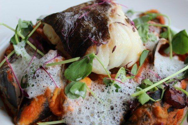 Salted cod at the Schooner Pub, Brighton