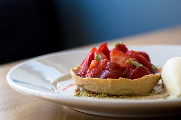 Strawberry tart at Semolina. Brighton