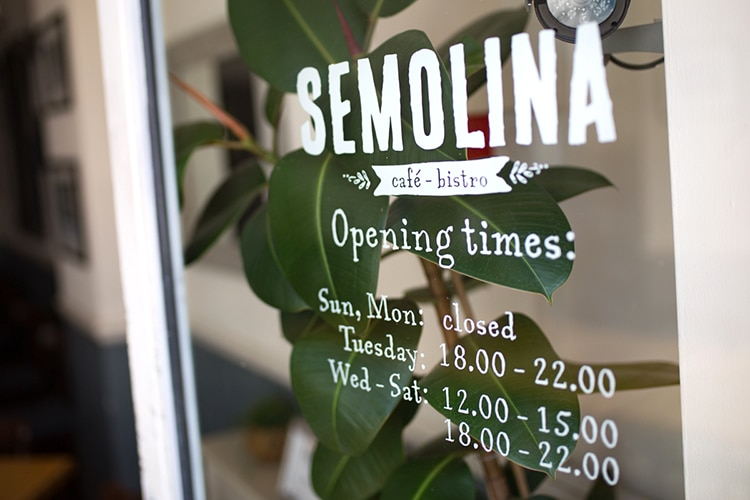 Semolina restaurant and cafe, Brighton