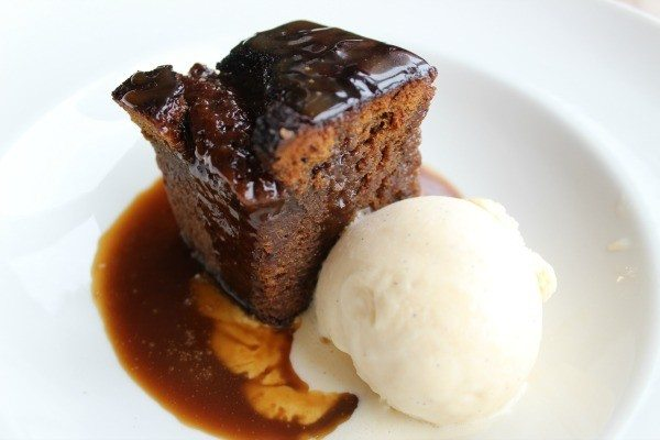 sticky toffee pudding at the schooner inn