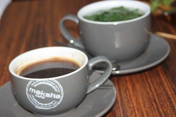 coffee and tea at moksha