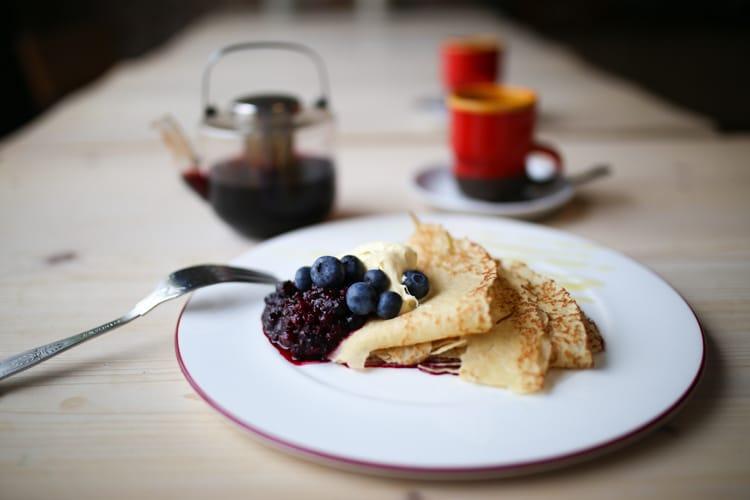 Pancake at Cafe Plenty on Preston Circus - Child Friendly Brighton