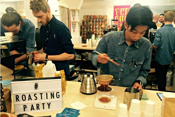 Making Coffee At London Coffee Festival