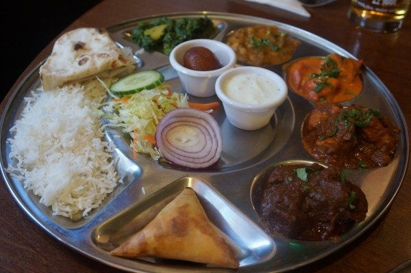 Meat thali chaulas