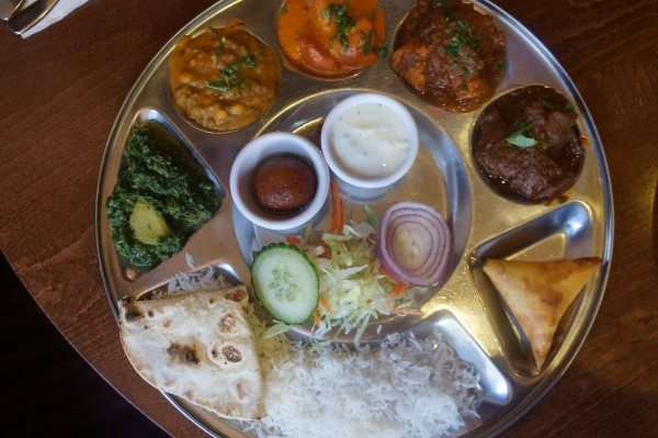 Meat thali chaulas, Sunday lunch