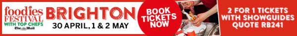 Brighton Foodies Festival, 241 tickets, Restaurants Brighton