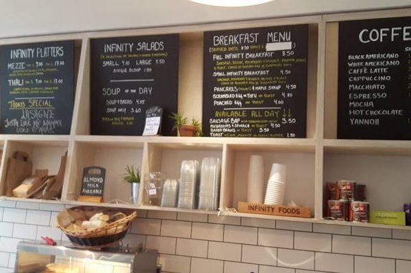 infinity foods menu