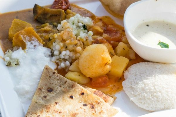 Typical breakfast in South West India