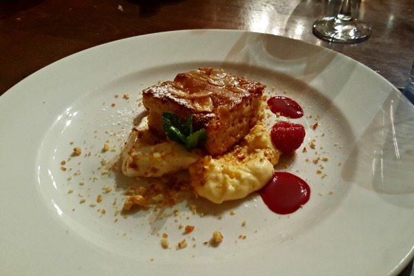 Almond and Orange Gluten Free Cake at Pelham House Restaurant