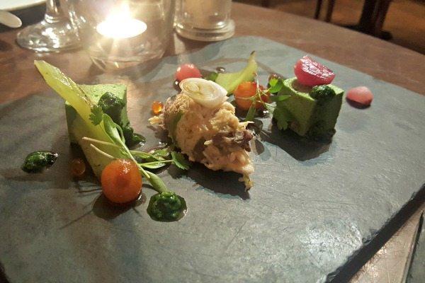 Avocado and crab at pelham house restaurant
