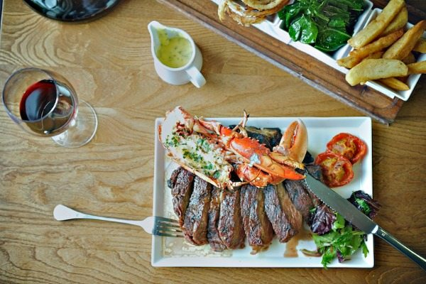 Surf and turf dish at The Coal Shed, Brighton