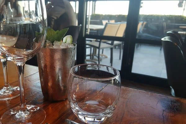Cocktail and View at The Salt Room