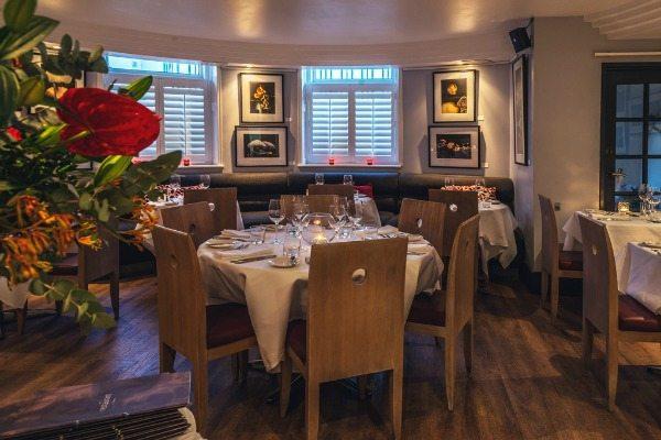 Interior at Drakes Restaurant Brighton