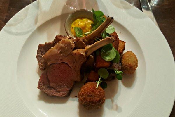 Lamb Rack at pelham house restaurant