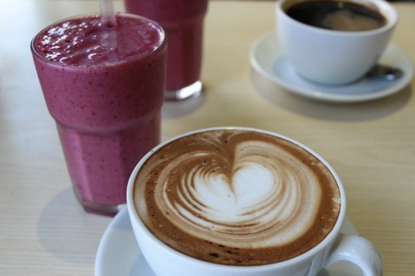 Mocha and Berry Smoothie at V and H cafe