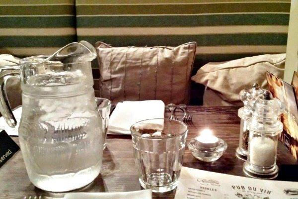 Pub Du Vin Table Setting
