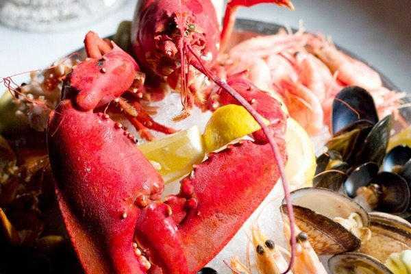 Lobster on ice at Riddle and Finns Brighton