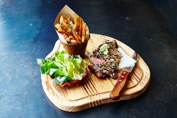 Steak and chips at Jamie's Italian restaurant, Brighton