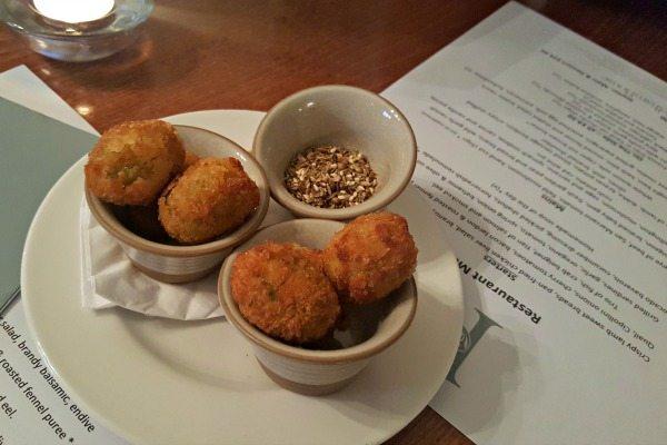 Stuffed Olives With Dukkah at Pelham House Restaurant
