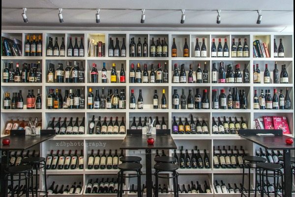 Ten Green Bottles Wall of Wine