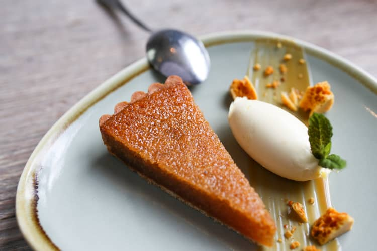 Treacle tart The Crabtree Restaurant, Sussex