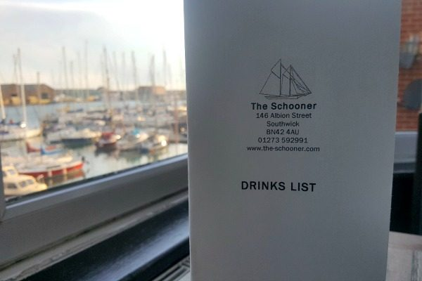 The Schooner Drinks List