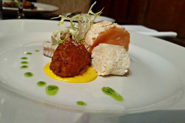 Trio of fish at pelham house restaurant