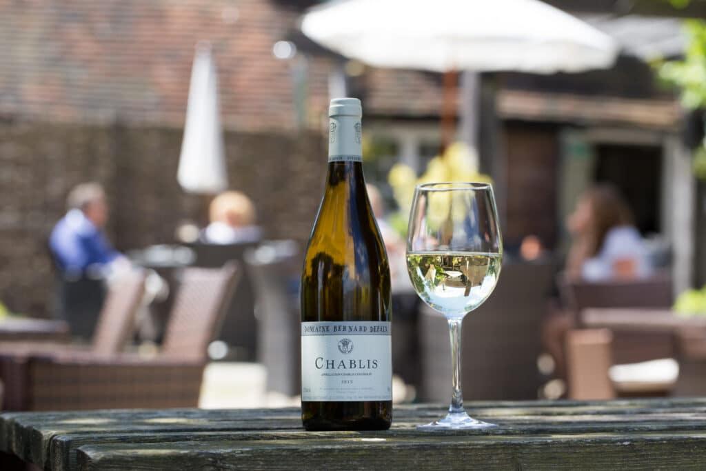 Wine in the garden at The Crabtree Horsham