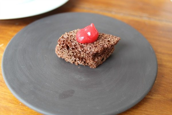 Aerated Chocolate & Raspberry Gel Isaac At