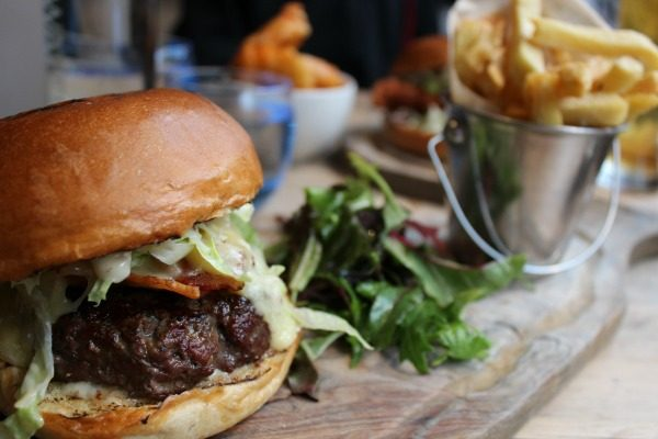 Beef Burger at Coggins and Co