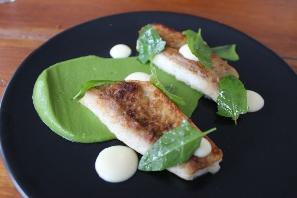 Bream, Smoked Broccoli, Savoury Lemon Curd & Goosefoot at Isaac At