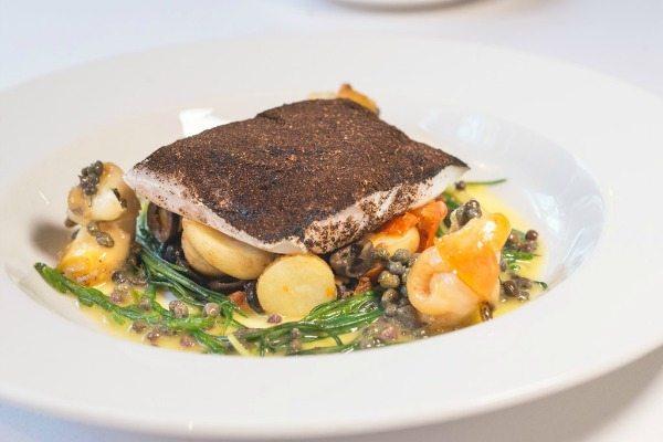 Fish dish at Drakes Restaurant Brighton
